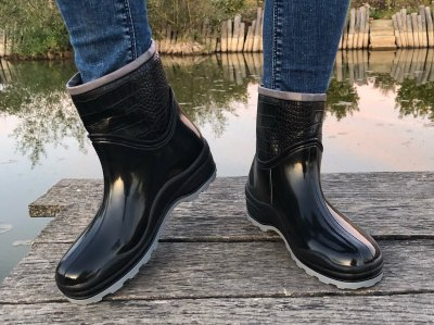 Гумові чоботи Selena з утеплювачем чорні