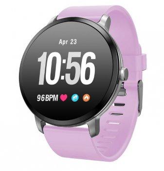 Смарт-годинник Colmi V11 водонепроникні + Bluetooth / пульсометр / тонометр / лічильник калорій Фіолетовий