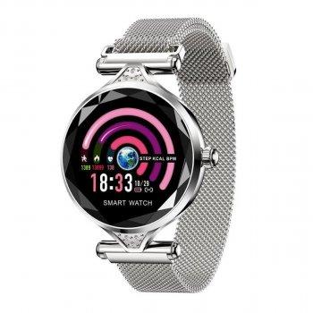 Смарт-годинник Lemfo H2 c функцією тонометра + крокомір, пульсометр і моніторинг сну Сріблястий