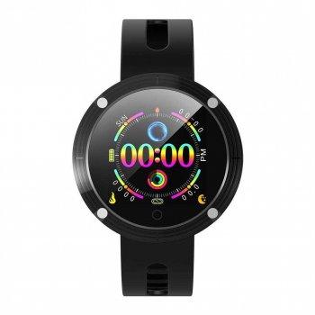 Смарт-годинник Smart DM58 Plus з тонометром + крокомір, пульсометр і моніторинг сну Чорний