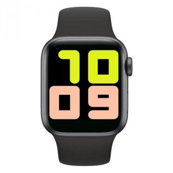 Смарт-годинник Smart T500 з вимірюванням рівня кисню в крові + пульсометр, тонометр і крокомір Чорний