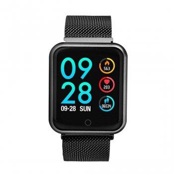 Смарт-годинник Smart P68 з тонометром і пульсометром + крокомір, лічильник калорій і моніторинг сну Чорний