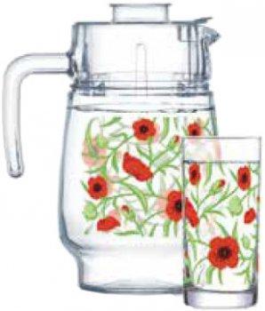 Набір для напоїв Luminarc Amsterdam Fresh Blooms 7 предметів (P4816)