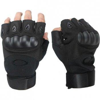 Перчатки тактические Открытые с усиленным протектором OAKLEY Черные L