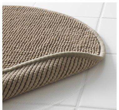 Килимок для ванної IKEA BADAREN бежевий 903.116.15
