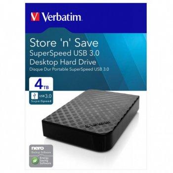 """Зовнішній жорсткий диск Verbatim Store 'n' Save 4Tb 3.5"""" USB 3.0 (47685)"""