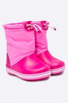 Детские зимние сапоги Crocs Kids' LodgePoint Boot Розовые затяжка
