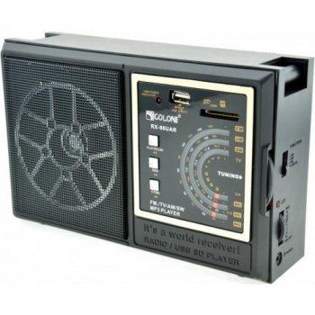 Радиоприёмник-колонка аккумуляторный Golon RX-98 MP3 USB SD Черный