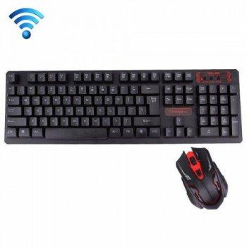 Бездротова ігрова клавіатура і миша KeyBoard HK-6500