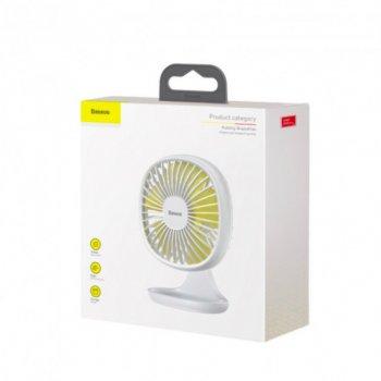 Вентилятор настільний портативний BASEUS Pudding-Shaped Fan Білий