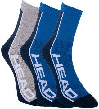 Набор носков HEAD Performance Short Crew 3Р Unisex 791010001-001 M Синий/Серый