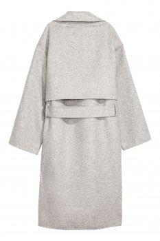 Пальто H&M 5375286RP1 Светло-серый меланж