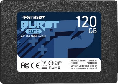 "Patriot Burst Elite 120GB 2.5"" SATAIII TLC (PBE120GS25SSDR)"