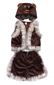 Детский карнавальный костюм Медведь 110-116 см