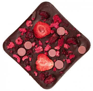 Плитка темного шоколада Spell с ягодами 110 г (4820207310865)