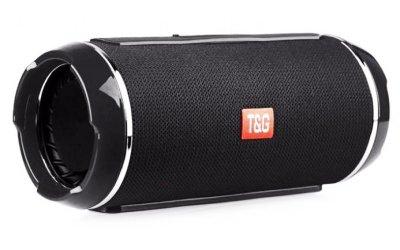 Портативна бездротова bluetooth стерео колонка вологостійка T&G Flip 6 Чорна (Flip 6 Black)