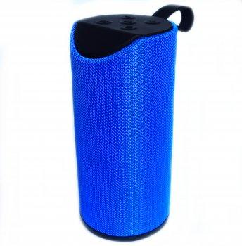 Портативна Bluetooth стерео колонка вологостійка MEGA BASS TG-113 Синя (113 Blue)