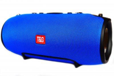 Портативна Bluetooth стерео колонка вологостійка бездротова T&G Xtreme Синя (Xtreme 13 Blue)