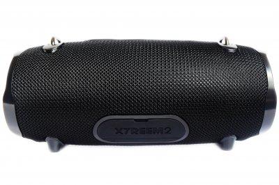 Портативна бездротова Bluetooth стерео колонка вологостійка T&G Xtreme 2 small Чорна (Xtreme 2 small Black)