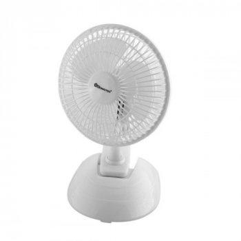 Настільний вентилятор 2 швидкості кут нахилу автоповорот 15 Вт Domotec MS-1623 білий