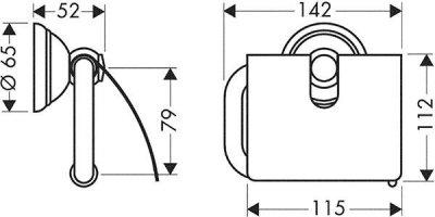Тримач для туалетного паперу AXOR CARLTON 41438090 хром (27742)