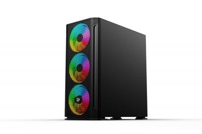 Корпус 2E Gaming FERA (GAX1) MidT,EATX,2*USB2.0,1*USB3.0, ARGB3*140,1*120мм,стекло,без БП,черн.