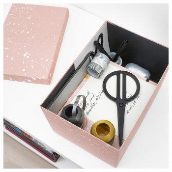 Коробка з кришкою IKEA (ІКЕА) TJENA 18х25х15см рожева (004.038.17)