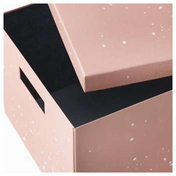 Коробка з кришкою IKEA (ІКЕА) TJENA 25х35х20см рожева (404.038.15)