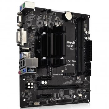 Материнська плата ASRock J4005M (Intel Celeron J4005, SoC, PCI-Ex16)