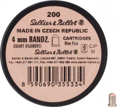 Патрон Флобера Sellier & Bellot Randz Curte кал. 4 mm short пуля - свинцовый шарик плакированный медью. Упаковка 200 шт. 12110101