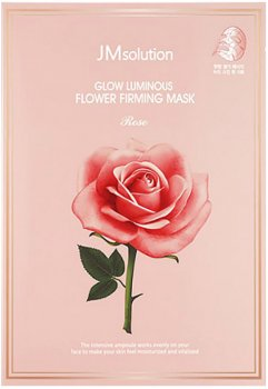 Тканевая маска с экстрактом дамасской розы JMsolution Glow Flower Firming Mask Rose 45 г (8809505542631)