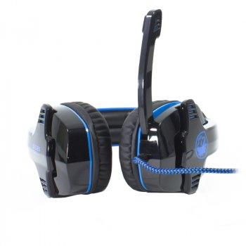 Наушники с микрофоном Sades SA-901 Black/Blue (1349-5970а)