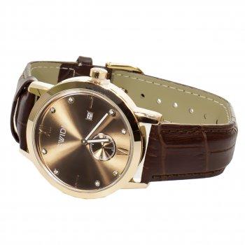 Мужские часы Swidu SWI-018 Brown + Gold (3088-8709а)