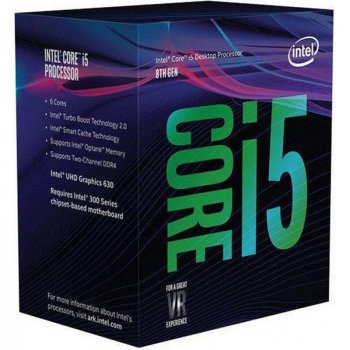 Процесор Intel Core i5 8600K 3.6 GHz (9MB, Coffee Lake, 95W, S1151) Box (BX80684I58600K) no cooler