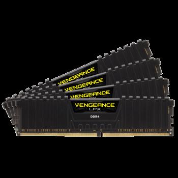 Corsair 64 GB (4x16GB) DDR4 2400 MHz Vengeance LPX (CMK64GX4M4A2400C16)