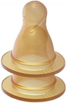 Бутылочка для кормления GooGoo Kyiv 125 мл с двумя резиновыми сосками Желтая (A00150000071196) (4823060811463)