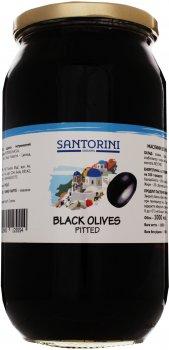 Маслины Santorini черные без косточки 141/160 1000 мл (5202900125554)