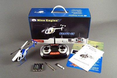 Вертолет Nine Eagles Bravo SX RTF 229 мм 2,4 ГГц (NE30232024206002A)