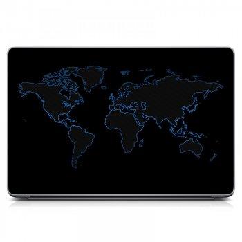 """Наклейка на ноутбук 15.6"""" 380х250 мм Map Матовый"""