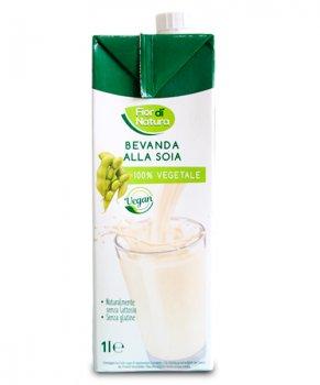 """Органическое растительное молоко Fior di Natura """"Bevanda Alla Soia"""" Соевое с кальцием и витаминами B2, B12 и D 1 л (10001)"""