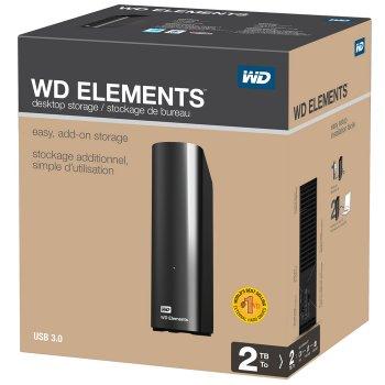 """Накопичувач зовнішній HDD 3.5"""" USB 2.0 Tb WD Elements Desktop Black (WDBWLG0020HBK-EESN)"""