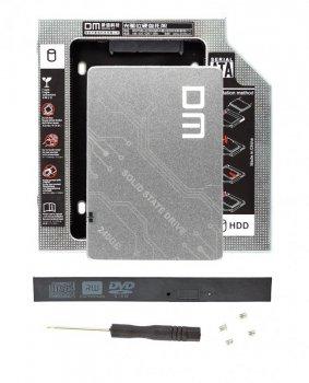 """Твердотільний накопичувальний (жорсткий) диск DM F500 2.5"""" SATA III 240GB (DMF500/240G) в комплекті з адаптером DM 9.5 мм (DW095S) для ноутбука (770008588)"""