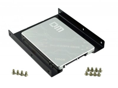 """Твердотільний накопичувальний (жорсткий) диск DM F500 2.5"""" 120GB SATA III (DMF500/120G) в комплекті з кронштейном-перехідником з 2.5"""" HDD/SSD в 3.5"""" (770008587)"""