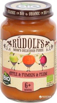 Упаковка фруктово-овочевого пюре Rudolfs Яблуко-Гарбуз-Слива з 6 місяців 190 г х 6 шт (4751017940082)