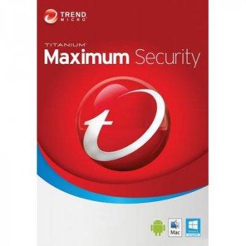 Антивірус Trend Micro Maximum Security 2019 5ПК, 12 month(s), Multi Lang, Lic, New (TI10974200)