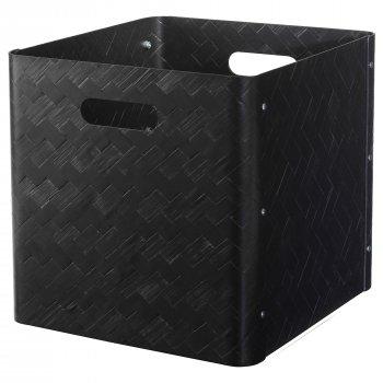 Ящик для хранения IKEA BULLIG 32x35x33 см черный 104.096.25