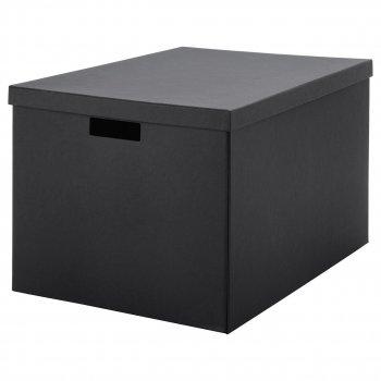 Коробка з кришкою IKEA TJENA 35x50x30 см чорна 103.743.48
