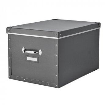 Контейнер для хранения IKEA FJÄLLA 35x56x30 см темно-серый 503.956.69