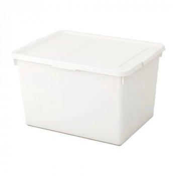 Коробка с крышкой IKEA SOCKERBIT 38x51x30 см белая 803.160.67