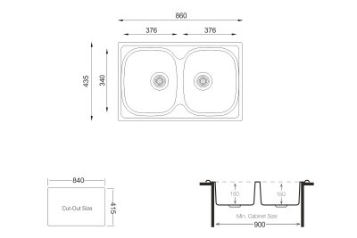 Кухонна мийка KROMEVYE E144 MC матова